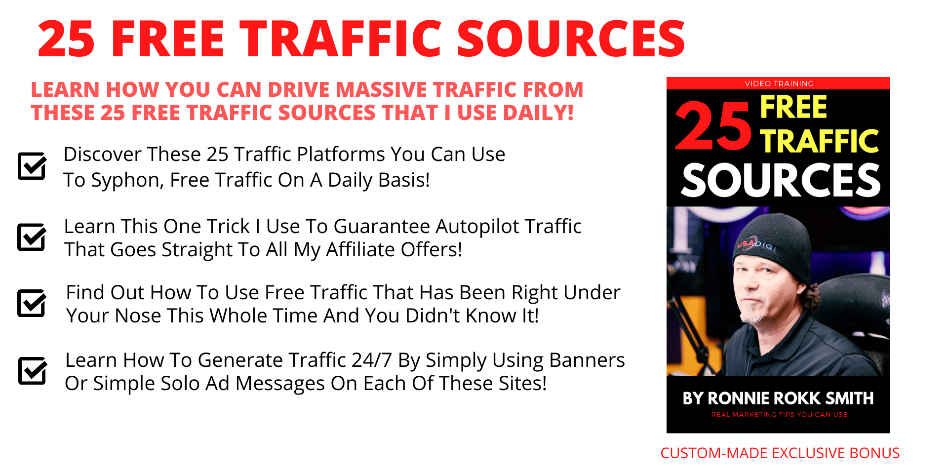 25 FREE Traffic Sources